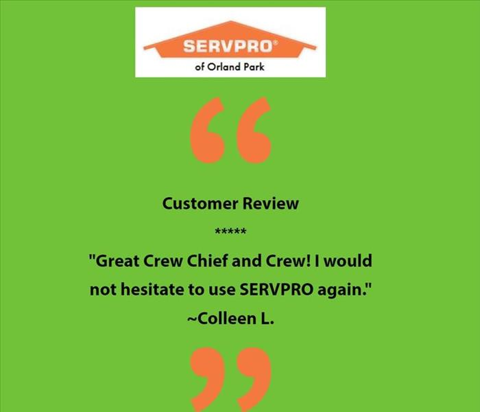 Servpro 5 star customer review