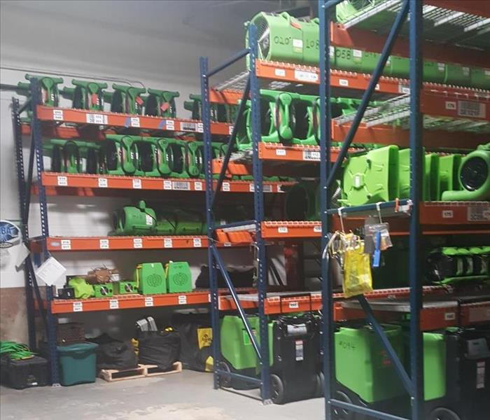 warehouse with equipment